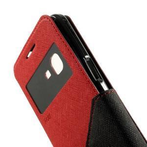 Safety pouzdro s okýnkem pro Samsung Galaxy Grand Prime - červené - 7