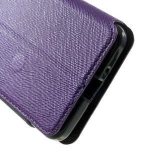 Safety pouzdro s okýnkem pro Samsung Galaxy Grand Prime - fialové - 7