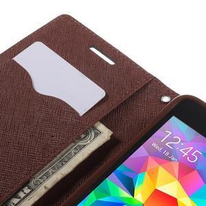 Diary PU kožené pouzdro na mobil Samsung Galaxy Grand Prime - čené/hnědé - 7