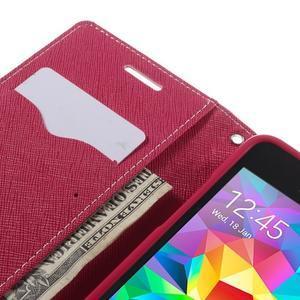 Diary PU kožené pouzdro na mobil Samsung Galaxy Grand Prime - růžové - 7