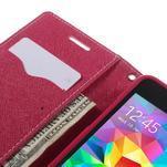 Diary PU kožené pouzdro na mobil Samsung Galaxy Grand Prime - růžové - 7/7