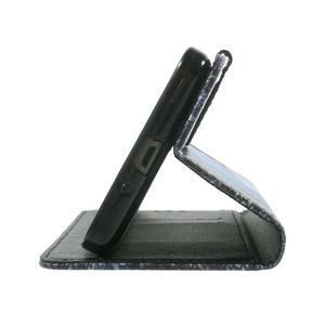 Wallet PU kožené pouzdro na mobil Samsung Galaxy Grand Prime - modrý motýl - 7