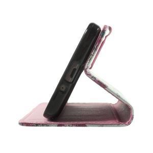 Wallet PU kožené pouzdro na mobil Samsung Galaxy Grand Prime - květiny - 7