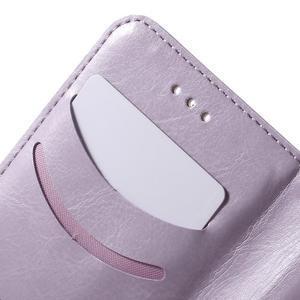 Koženkové pouzdro s kočičkou Domi na Samsung Galaxy J1 - fialové - 7