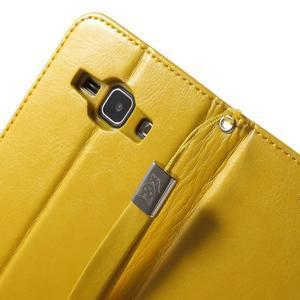 Koženkové pouzdro s kočičkou Domi na Samsung Galaxy J1 - žluté - 7