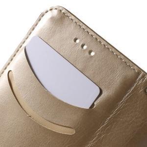 Koženkové pouzdro s kočičkou Domi na Samsung Galaxy J1 - zlaté - 7