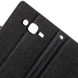 Diary stylové peněženkové pouzdro na Samsung Galaxy J5 - černé - 7