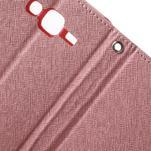 Diary stylové peněženkové pouzdro na Samsung Galaxy J5 - růžové - 7/7
