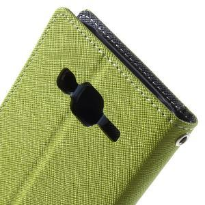 Diary stylové peněženkové pouzdro na Samsung Galaxy J5 - zelené - 7