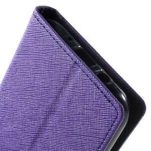 Diary stylové peněženkové pouzdro na Samsung Galaxy J5 - fialové - 7