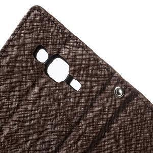 Diary stylové peněženkové pouzdro na Samsung Galaxy J5 - hnědé - 7