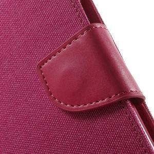 Luxury textilní/pu kožené pouzdro na Samsung Galaxy J5 - rose - 7