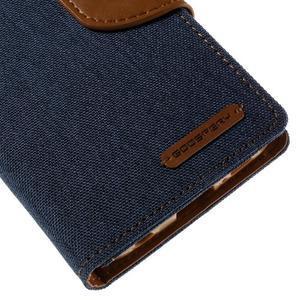 Luxury textilní/koženkové pouzdro pro Samsung Galaxy S6 Edge - jeans - 7