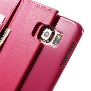 Wallet PU kožené pouzdro na Samsung Galaxy S6 Edge G925 - rose - 7