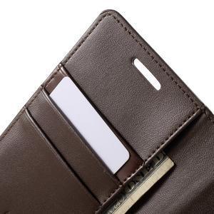Wallet PU kožené pouzdro na Samsung Galaxy S6 Edge G925 - tmavěhnědé - 7