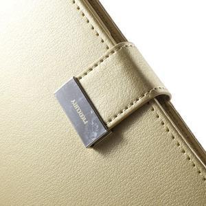 Wallet PU kožené pouzdro na Samsung Galaxy S6 Edge G925 - champagne - 7