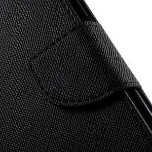 Diary PU kožené pouzdro na Samsung Galaxy S6 Edge - černé - 7