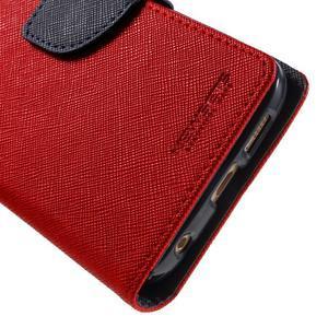 Diary PU kožené pouzdro na Samsung Galaxy S6 Edge - červené - 7