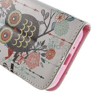 Vzorové peněženkové pouzdro na Samsung Galaxy Xcover 3 - sova - 7