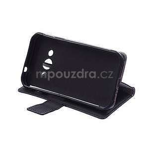 Peněženkové pu kožené pouzdro na Samsung Galaxy Xcover 3 - černé - 7