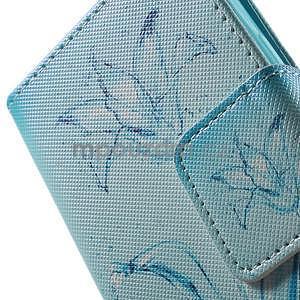Vzorové peněženkové pouzdro na Samsung Galaxy Xcover 3 - vodní květ - 7