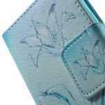 Vzorové peněženkové pouzdro na Samsung Galaxy Xcover 3 - vodní květ - 7/7