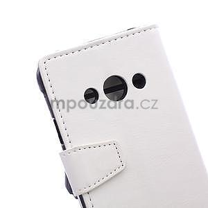 Bílé koženkové pouzdro Samsung Galaxy Xcover 3 - 7