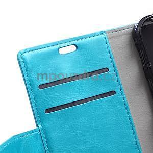 Modré koženkové pouzdro Samsung Galaxy Xcover 3 - 7