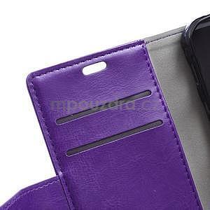 Fialové koženkové pouzdro Samsung Galaxy Xcover 3 - 7