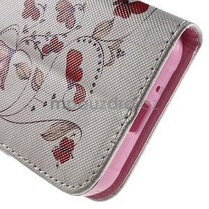 Vzorové peněženkové pouzdro na Samsung Galaxy Xcover 3 - červené květy - 7