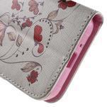 Vzorové peněženkové pouzdro na Samsung Galaxy Xcover 3 - červené květy - 7/7
