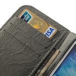 PU kožené peněženkové pouzdro na Samsung Galaxy S4 - šedé - 7/7