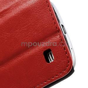 Peněženkové PU kožené pouzdro na Samsung Galaxy S4 mini - červené - 7