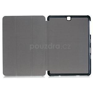 Trifold polohovatelné pouzdro na Samsung Galaxy Tab S2 9.7 - fialové - 7