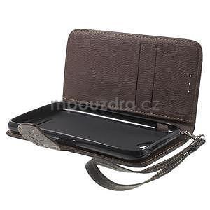 PU kožené lístkové pouzdro pro Sony Xperia E4 - černé - 7