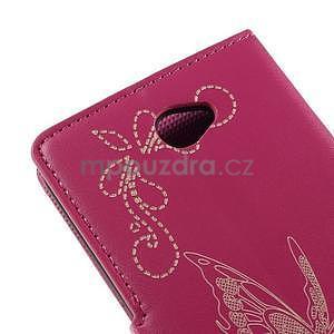 Peněženkové pouzdro s motýlkem na Sony Xperia E4 - rose - 7