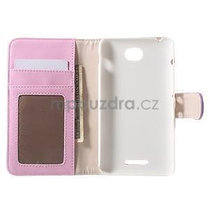Koženkové pouzdro pro Sony Xperia E4 - fialové - 7
