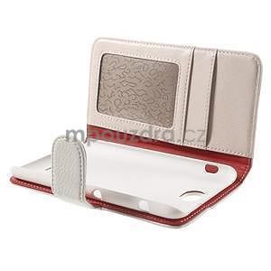 Koženkové pouzdro pro Sony Xperia E4 - bílé - 7