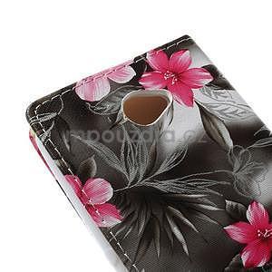 Peněženkové pouzdro na mobil Sony Xperia E4 - lilie v rozkvětu - 7