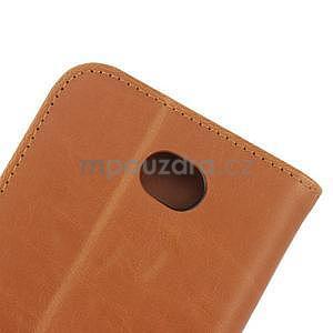 PU kožené PU peněženkové pouzdro na Sony Xperia E4 - hnědé - 7