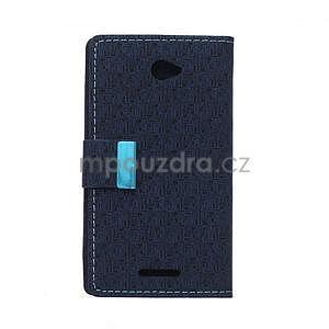 Vzorované pěněženkové pouzdro na Sony Xperia E4 - tmavě modré - 7