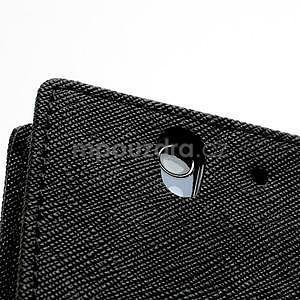 Peněženkové PU kožené pouzdro na Sony Xperia Z - černé - 7