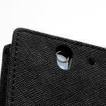 Peněženkové PU kožené pouzdro na Sony Xperia Z - černé - 7/7
