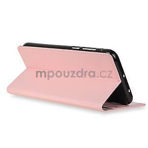 Crazy PU kožené zapínací pouzdro na Xiaomi Redmi Note 5A Prime - růžové - 7
