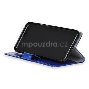 Crazy PU kožené zapínací pouzdro na Xiaomi Redmi Note 5A Prime - modré - 7