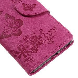Butterfly PU kožené pouzdro na Sony Xperia E5 - rose - 7