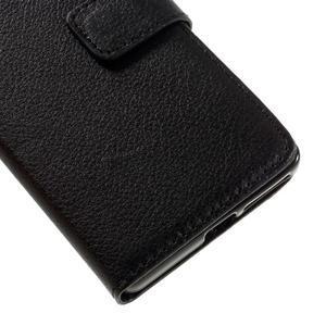 Leathy PU kožené pouzdro na Sony Xperia E5 - černé - 7