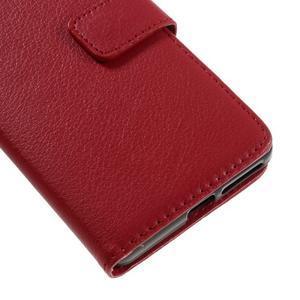 Leathy PU kožené pouzdro na Sony Xperia E5 - červené - 7
