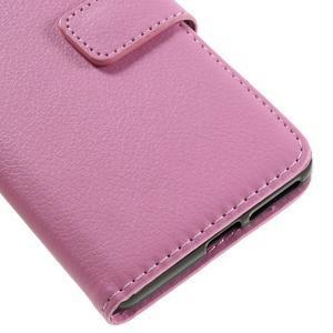 Leathy PU kožené pouzdro na Sony Xperia E5 - růžové - 7
