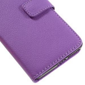 Leathy PU kožené pouzdro na Sony Xperia E5 - fialové - 7